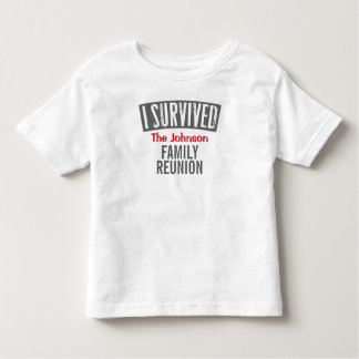 Camiseta De Bebé Sobreviví - reunión de familia - la personalizo