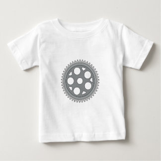 Camiseta De Bebé Sola manivela del anillo del vintage retra