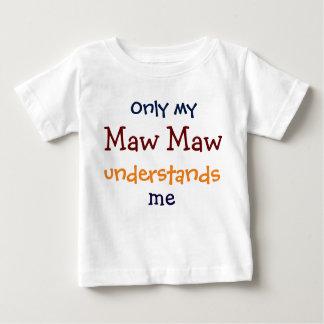 Camiseta De Bebé Solamente mi estómago del estómago me entiende la