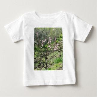 Camiseta De Bebé Solo árbol de melocotón en flor. Toscana, Italia