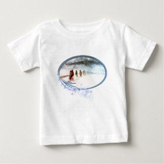 Camiseta De Bebé Sombra del búho en el rastro de rasgones