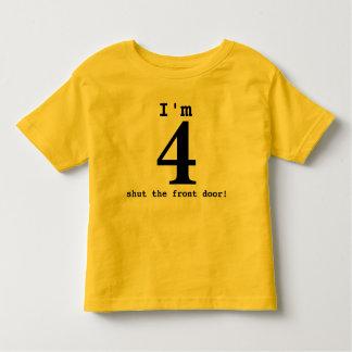 Camiseta De Bebé ¡Soy 4… cerré la puerta principal! Equipo del