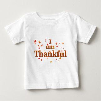 Camiseta De Bebé soy agradecido