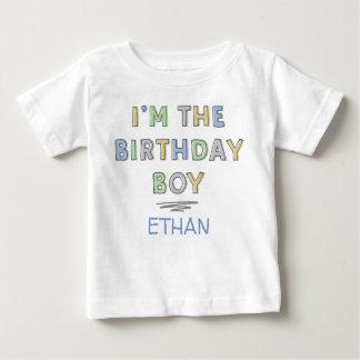 Camiseta De Bebé Soy el muchacho del cumpleaños - personalizado