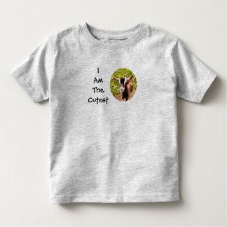 Camiseta De Bebé Soy el niño más lindo (la foto de la cabra del