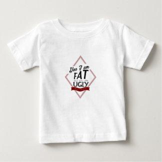 Camiseta De Bebé Soy gordo usted soy feo