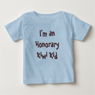 Camiseta De Bebé Soy un niño honorario del kiwi