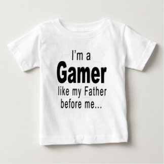 Camiseta De Bebé Soy un videojugador como mi padre antes de mí…
