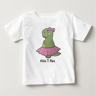 Camiseta De Bebé Srta. T-Rex Shirt del dinosaurio de la niña