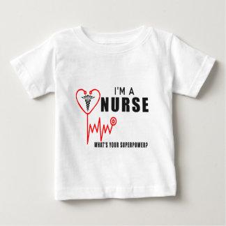 Camiseta De Bebé Su enfermera de la superpotencia