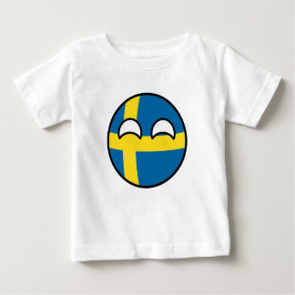 Camiseta De Bebé Suecia Geeky que tiende divertida Countryball