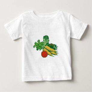 Camiseta De Bebé Surtido vegetal estilizado