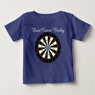 Camiseta De Bebé Tablero de dardo del bebé de la costa este