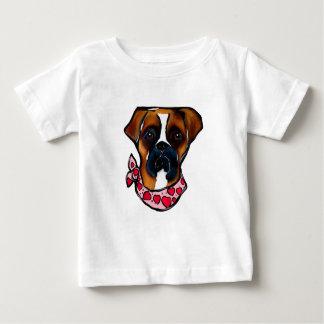 Camiseta De Bebé Tarjeta del día de San Valentín del perro del