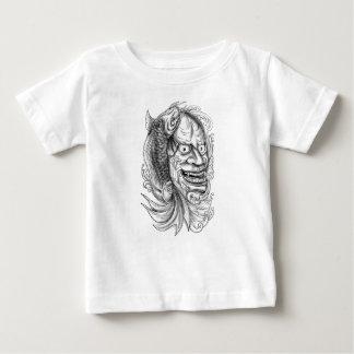 Camiseta De Bebé Tatuaje de conexión en cascada del agua de los