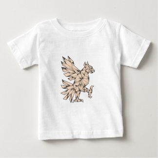 Camiseta De Bebé Tatuaje de Cuauhtli Glifo Eagle