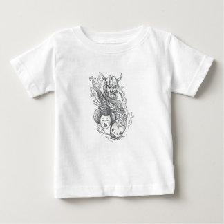 Camiseta De Bebé Tatuaje de la cabeza del geisha de la carpa de