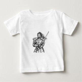 Camiseta De Bebé Tatuaje de la postura de la lucha del guerrero del
