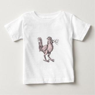 Camiseta De Bebé Tatuaje de respiración del fuego de la badana