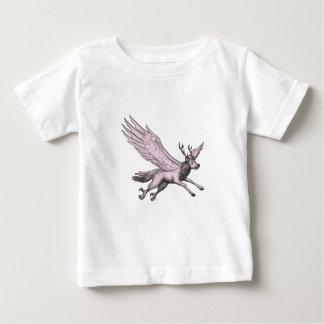Camiseta De Bebé Tatuaje del lado del vuelo de Peryton