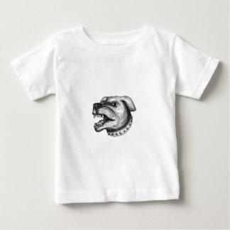 Camiseta De Bebé Tatuaje el gruñir de la cabeza de perro de