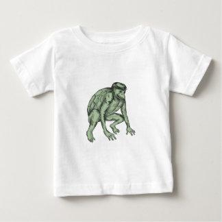 Camiseta De Bebé Tatuaje que se agacha del monstruo de Kappa