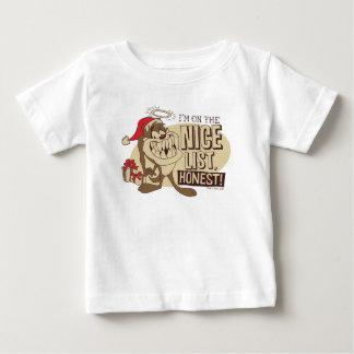Camiseta De Bebé TAZ™- estoy en Niza la lista