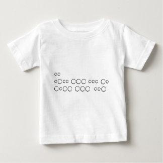 """Camiseta De Bebé """"Te amo"""" en el código Morse, círculos ásperos"""