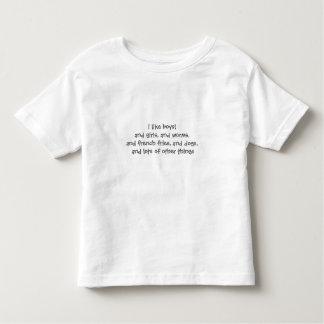 Camiseta De Bebé tengo gusto de los muchachos t
