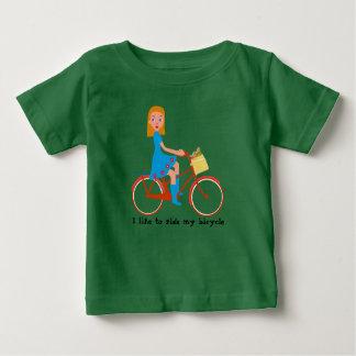 Camiseta De Bebé Tengo gusto de montar mi bici