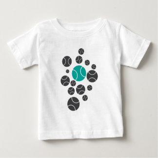 Camiseta De Bebé tennisballs-azul