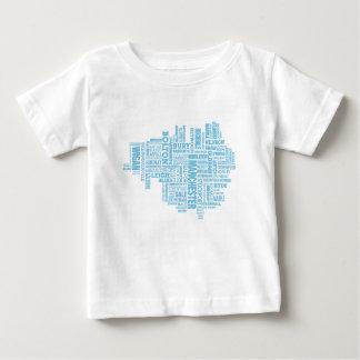 Camiseta De Bebé Tipo azul mapa de mayor Manchester