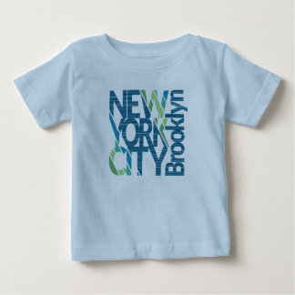 Camiseta De Bebé Tipografía de Brooklyn Nueva York