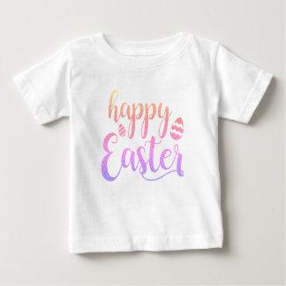 Camiseta De Bebé Tipografía multicolora feliz del huevo de Pascua