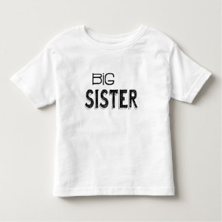 Camiseta De Bebé Tipografía negra y blanca de la hermana grande