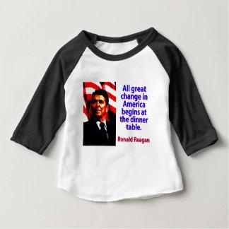 Camiseta De Bebé Todo el gran cambio en América - Ronald Reagan