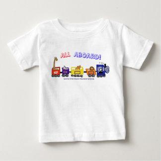 Camiseta De Bebé ¡Todos a bordo del tren de la diversión!