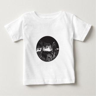 Camiseta De Bebé Torre del campanario en el grabar en madera del