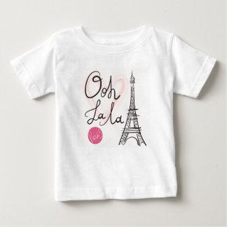 Camiseta De Bebé Torre Eiffel dibujada mano