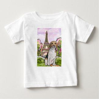 Camiseta De Bebé torre Eiffel París del beagle