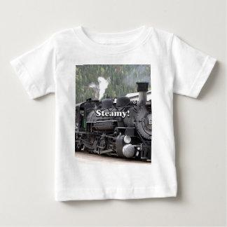 Camiseta De Bebé Tórrido!: motor del tren del vapor, Colorado, los