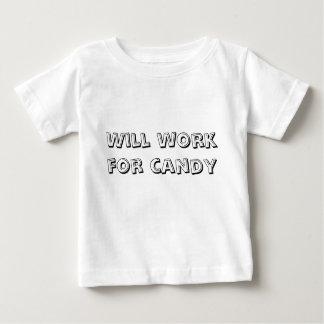 Camiseta De Bebé Trabajará para el caramelo