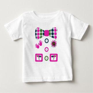 Camiseta De Bebé Traje rosado de Halloween del payaso de los