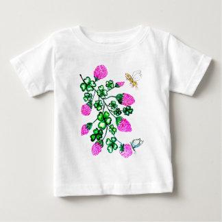 Camiseta De Bebé Trébol verde Watercolor2