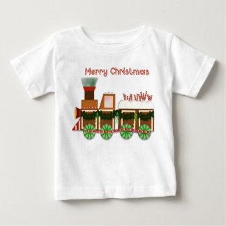 Camiseta De Bebé Tren de Choo Choo del navidad con el caramelo