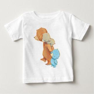 Camiseta De Bebé Tres amigos adorables del oso