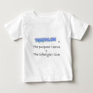 Camiseta De Bebé TRIATHLON - el propósito que sirvo