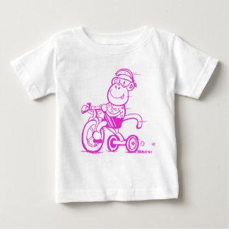 Camiseta De Bebé Triciclo Pedalling del mono del bebé