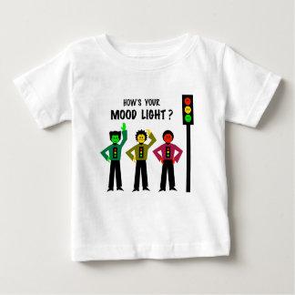 Camiseta De Bebé Trío cambiante de la luz de parada cómo está su