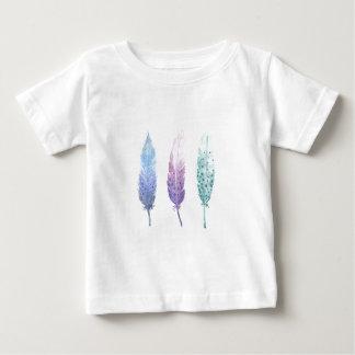 Camiseta De Bebé Trío de la pluma del Watercolour de Boho